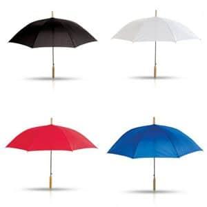 הדפסה על מטרייה עם מוט עץ